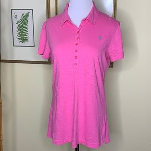 Lilly Pulitzer Pink Pima Cotton Polo Size Large